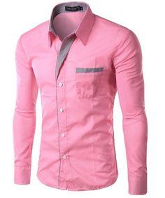 2017 New Fashion Brand Camisa Masculina Long Sleeve Shirt Men Korean Slim Design Formal Casual Male Dress Shirt Size Cheap Mens Shirts, Mens Shirts Online, Casual Shirts For Men, Men Casual, Men Shirts, Stylish Shirts, Stylish Men, Casual Shoes, Striped Long Sleeve Shirt