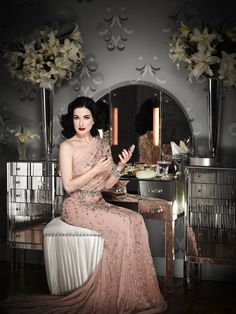 wallpaper; Ananas à Miami: Dita Von Teese by Douglas Friedman for InStyle, February 2011