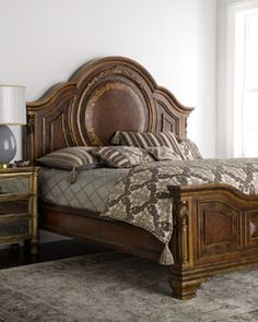 Colbert Bedroom Furniture at Horchow. Luxury Furniture, Bedroom Furniture, Furniture Design, Bedroom Bed, Bedroom Decor, Bed Room, Princess Bedrooms, Wood Bed Design, Shabby