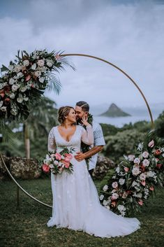 Mar 2020 - Wedding at Paliku Gardens at Kualoa Ranch including wedding day details inspiration, outdoor wedding ideas, and bride and groom fashion by Anela Benavides, Oahu wedding photographer Wedding Ceremony Backdrop, Wedding Reception Locations, Wedding Venues, Wedding Arches, Elopement Wedding, Outdoor Ceremony, Reception Ideas, Wedding Venue Inspiration, Wedding Photography Inspiration