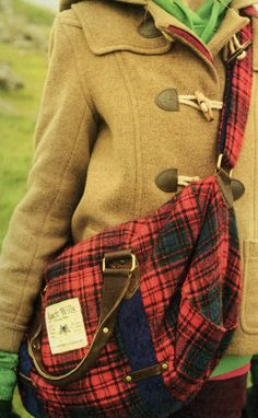 I adore a duffle coat & the plaid bag rocks too.