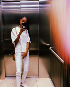 Letitia Wright, White Jeans, Actresses, Elevator, Outfits, Braids, Woman, Style, Instagram