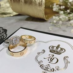 Devina and Andy envisioned class and romance for their luxury ballroom wedding in Los Angeles. Cartier Wedding Bands, Diamond Wedding Rings, Wedding Ring Bands, Perfect Engagement Ring, Engagement Rings, Elegant Wedding, Dream Wedding, Ballroom Wedding, Rings For Her