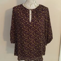 Modcloth blouse Maroon and yellow paisley blouse from Modcloth, brand fun2fun. Size medium. Only wore once. Excellent condition. ModCloth Tops Blouses