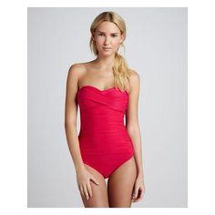 bright pink one piece swimsuit, women's swimwear