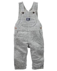 With plenty of pockets and genuine hardware, these soft French terry overalls are a comfy take on timeless style.