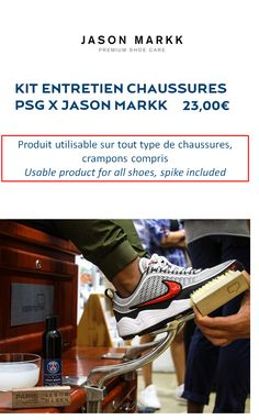 The new Paris Saint-Germain product that will make you perfect from head to toe. Product usable for all shoes, even your soccer shoes can you believe it!!