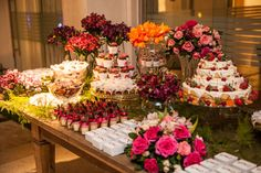 Floral table decor. Desert table. Party inspiration. Beautiful. Party time.