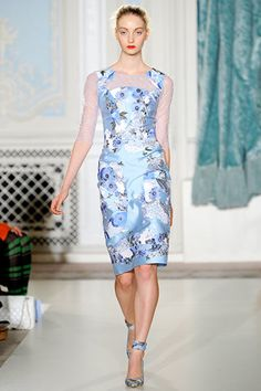 Erdem Spring 2012 RTW Floral Lace-Cutout Dress