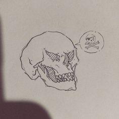 Arrrrr!!! 💀Quick exercise. #skull #sketch #sketchbook #doodle #r #pirate #draw #line #excercise #artwork #practice #linework #illustrator #study #characterdesign