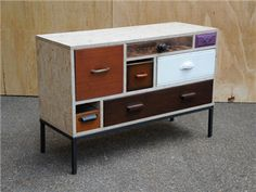 Beautifully presented sideboard with great proportions. Various components re-imagined within an OSB carcass. created by: Rupert Blanchard origin: Shoreditch, London. dimensions: width: 100cm; height: 68cm; depth: 39cm