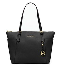 Michael Kors Jet Set Top-Zip Saffiano Tote--have this in black..--it my simpliest of Michael Kors ----and like it allot