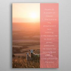 Amazing print of Psalm 23 v 1 - 3 Lord Is My Shepherd, Psalm 23, Well Thought Out, Print Artist, New Artists, Cool Artwork, Trees To Plant, Bible Verses, Poster Prints