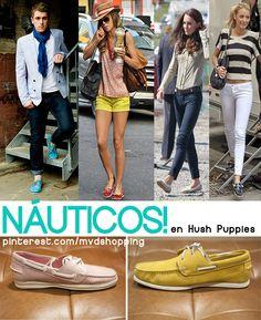 Náuticos en #HushPuppies, para hombres y mujeres, en muchos colores! Estos son nuestros #ElegidosMS. Los azufre $2890. Los rosa $2690