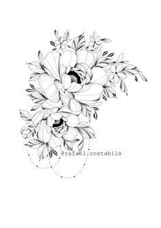 Floral Tattoo Design, Mandala Tattoo Design, Orchid Tattoo, Flower Tattoos, Orchid Drawing, Realistic Rose Tattoo, Tattoo Sites, Back Of Neck Tattoo, Pisces Tattoos