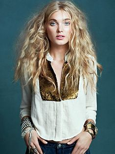 Sequin button down #freepeople