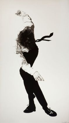 robert longo - charcoal on paper