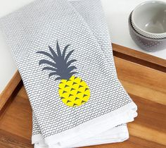 These pineapple dishtowels are sure to bring a smile to your face every time you enter your kitchen!