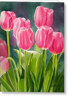 Rosy Pink Tulips Canvas Print / Canvas Art by Sharon Freeman