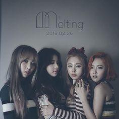 """. 마마무 첫 번째 정규 앨범 """"Melting"""" 2월 26일 . #마마무 #MAMAMOO #솔라 #문별 #휘인 #화사 #solar…"""