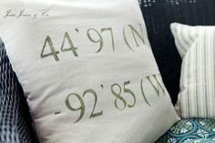 INSPIRATION: coordinance pillow