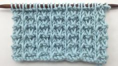 This video knitting tutorial will help you learn how to knit the whelk stitch..