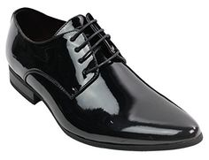 f45ebee6fe5d Mens Laced Smart Leather Lined Shoes Office Party Wedding Italian Design  Patent Shiny  Amazon.co.uk  Shoes   Bags