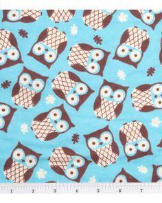 Flannel owl fabric from Jo-Ann