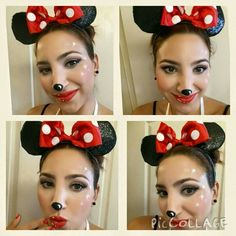 Minie Mouse red, face painting, Omi Trad, La fiesta by Omi. Mini Mouse Face Paint, Mini Mouse Makeup, Mickey Mouse Face Painting, Mouse Make Up, Diy Halloween Costumes For Women, Halloween Make Up, Homemade Halloween, Halloween 2016, Halloween Ideas