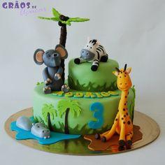 Selva - Girafa - Grãos de Açúcar - Bolos decorados - Cake Design