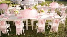Guest table from an Elegant Ballerina Birthday Party on Kara's Party Ideas | KarasPartyIdeas.com (30)
