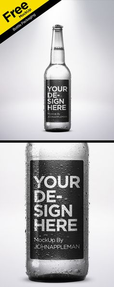 Free PSD MockUp Bottle Packaging