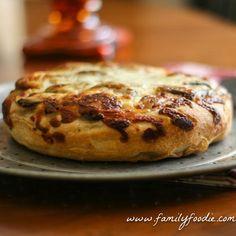 Potato Cheese and Mushroom Focaccia Bread #SundaySupper