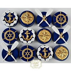 Nautical themed chocolate covered Oreos ⚓️❤️ #nautical #nauticaloreos #chocolate…