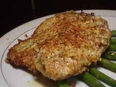 Almond and Parmesan Crusted Tilapia...super yummy, easy, and healthy! Made this!  Really good and easy