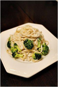 Vegan Cashew Alfredo Linguine ,