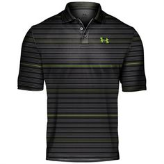 Golf Fashion Stlyle Under Armour Performance Stripe Men's Polo Shirt - Great gift for the avid golfer! Mens Golf Fashion, Mens Golf Outfit, Golf Attire, Fashion Moda, Men's Fashion, Under Armour Sport, Under Armour Men, Athletic Outfits, Sport Outfits