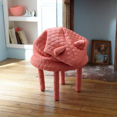 Petite friture Petstools stool Daisy the Mouse - pink Pink