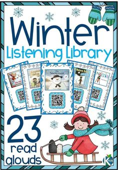 If you are looking for winter read alouds for your listening center or even during your Shared Reading or Reader's Workshop, this is the resource for you! 21 winter stories filtered through SafeShare.tv so they are free of ads and inappropriate content! Raz Kids, Listen To Reading, Winter Words, Reading Task Cards, Literacy Stations, Work Stations, In Kindergarten, Kindergarten Listening Center, Listening Centers