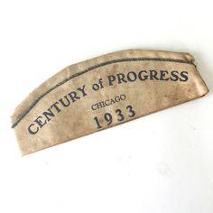 Century of Progress 1933 Cap Enchanted Island Hat World's Fair Chicago Cotton #worldsfair #chicago #centuryofprogress