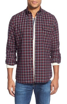 Nordstrom Men's Shop Trim Fit Long Sleeve Plaid Flannel Sport Shirt available at #Nordstrom