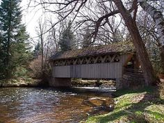 covered bridge in Waupaca, WI