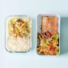 Fisch-Freunde aufgepasst: Mit diesem 2-in-1-Rezept für asiatisch angehauchten Wildlachs sind deine nächsten Mittagessen perfekt vorbereitet! Cravings, Food, Sweet Potato Recipes, Glutenfree, Meal, Essen
