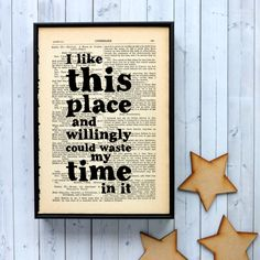 Bookishly Book Art // Shakespeare Quote // Meet me at Home / Food-und Designblog