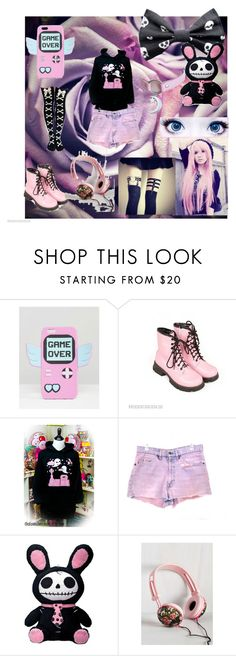 """""""Untitled #58"""" by candy-lover12 ❤ liked on Polyvore featuring Skinnydip, Dr. Martens and Levi's"""