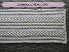 Eksperymenty z drutami: Biały szal z warkoczami