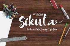 Sikula Font by mild on @creativemarket