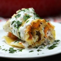 It's lasagna with a tasty twist. And with its blend of signature seasonings, Jimmy Dean Premium Pork Sausage rolled up with squash is delicious!