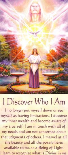 I Discover Who I Am Messages of Life.Mario Duguay