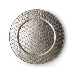 """The Jay Companies 13"""" Round Plaid Silver Acrylic Charger Plate"""